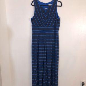 Liz Claiborne Navy stripe maxi dress size XL
